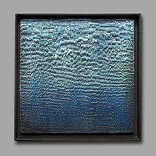 Feeling Blue IV by Carol Flaitz (Encaustic Painting)