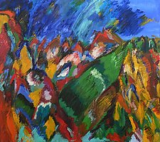 Dancing Mountain by Rene Levy (Oil Painting)