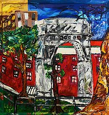 Washington Square Park by Rene Levy (Oil Painting)