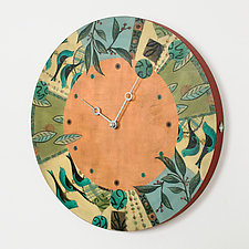New Capri Spice Clock by Janna Ugone and Justin Thomas (Wood Clock)