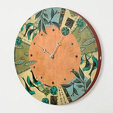 New Capri Spice Clock by Janna Ugone and Justin Thomas (Wood Clock)