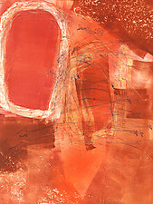 Clash by Sandra Humphries (Monotype Print)