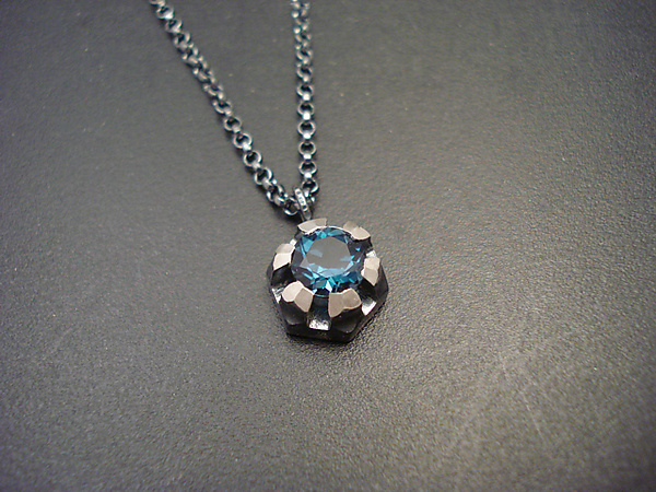 Fortress Necklace with Topaz