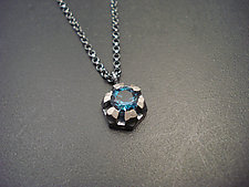 Fortress Necklace with Topaz by Tavia Brown (Silver & Stone Necklace)