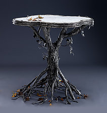 Occasional Table by Bill Masterpool (Metal & Marble Table)