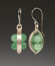 Two Bloom Earrings by Ayala Naphtali (Silver and Stone Earrings)