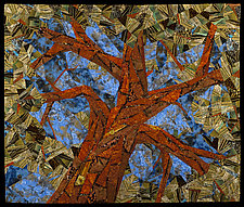 Aged Cinnamon by Linda Beach (Fiber Wall Hanging)