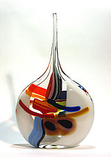 White Sail by Bengt Hokanson and Trefny Dix (Art Glass Sculpture)