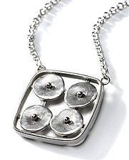 Geometrics in Motion Necklace 2 by Virginia Stevens (Silver Necklace)