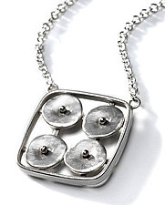Geometrics in Motion Necklace 2 by Virginia Stevens (Silver Pendant)