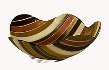 Wavy Pinstripe Bowl by Renato Foti (Art Glass Bowl)