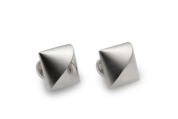 Wave Cuff Links in Sterling Silver