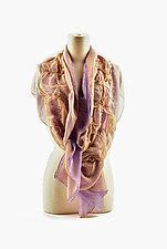 Bright Silk Chiffon Truffle Scarves by Yuh  Okano (Silk Scarf)