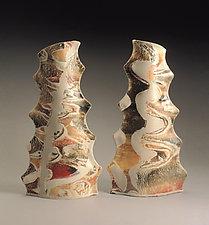 Stick Vase Pair by Kaete Brittin Shaw (Ceramic Vases)