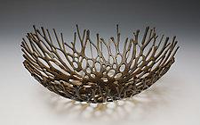 Bronze Nest by Heather Palmer (Art Glass Sculpture)