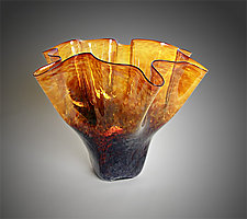 Luster Tortoise Shell Bowl by Jonathan Winfisky (Art Glass Vessel)