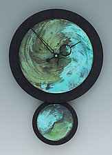 Raeia Verdigris Pendulum Clock by Leonie  Lacouette (Painted Clock)