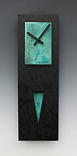 Verdigris Spike Pendulum Clock by Leonie  Lacouette (Painted Clock)