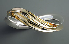 Undulated Bangle by Nancy Linkin (Bi-metal Bracelet)