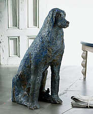 Blue Dog by Mark  Chatterley (Ceramic Sculpture)