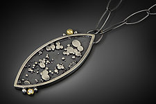 Leaf Necklace by Patty Schwegmann (Gold, Silver & Stone Necklace)