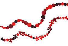 Red Necklace by Danielle Gori-Montanelli (Felt Necklace)
