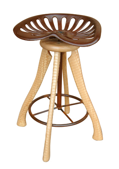 Tractor Seat Stool by Brad Smith Wood Stool Artful Home : A5997025l from www.artfulhome.com size 388 x 550 jpeg 59kB