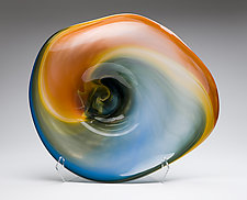 Mango Landscape Vessel by Janet Nicholson and Rick Nicholson (Art Glass Vessel)