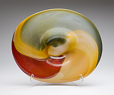 Naples Landscape Platter by Janet Nicholson and Rick Nicholson (Art Glass Vessel)