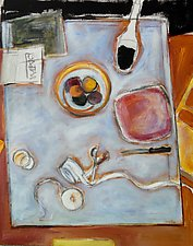 Still Life Before Party by Suzanne DeCuir (Oil Painting)