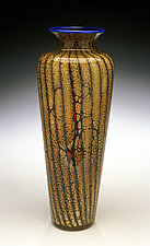 Batik Traditional Urn by Danielle Blade and Stephen Gartner (Art Glass Vase)