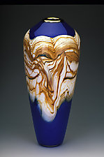 Strata Closed Urn by Danielle Blade and Stephen Gartner (Art Glass Vase)