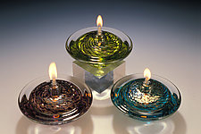 Saturn Oil Lamp by Danielle Blade and Stephen Gartner (Art Glass Oil Lamp)