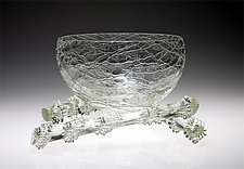 Crystal Nesting Bowl by R. Guy Corrie (Art Glass Vessel)