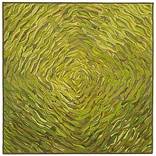 Green Spiral by Tim Harding (Fiber Wall Piece)