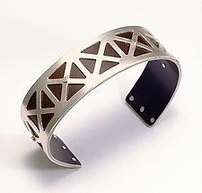 Extra Small Union Jack Cuff - Bronze by Gogo Borgerding (Silver & Aluminum Cuff)