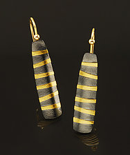 Bamboo Earrings by Tom McGurrin (Silver & Gold Earrings)