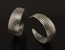 Hoops with Dots by Tom McGurrin (Silver Earrings)