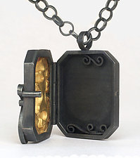 Brocade Locket by Natasha Wozniak (Silver & Gold Pendant)