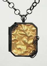 Brocade Locket by Natasha Wozniak (Silver & Gold Pendant)