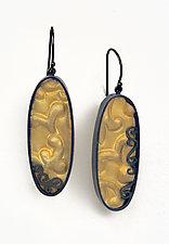 Brocade Oval Earrings by Natasha Wozniak (Gold & Silver Earrings)