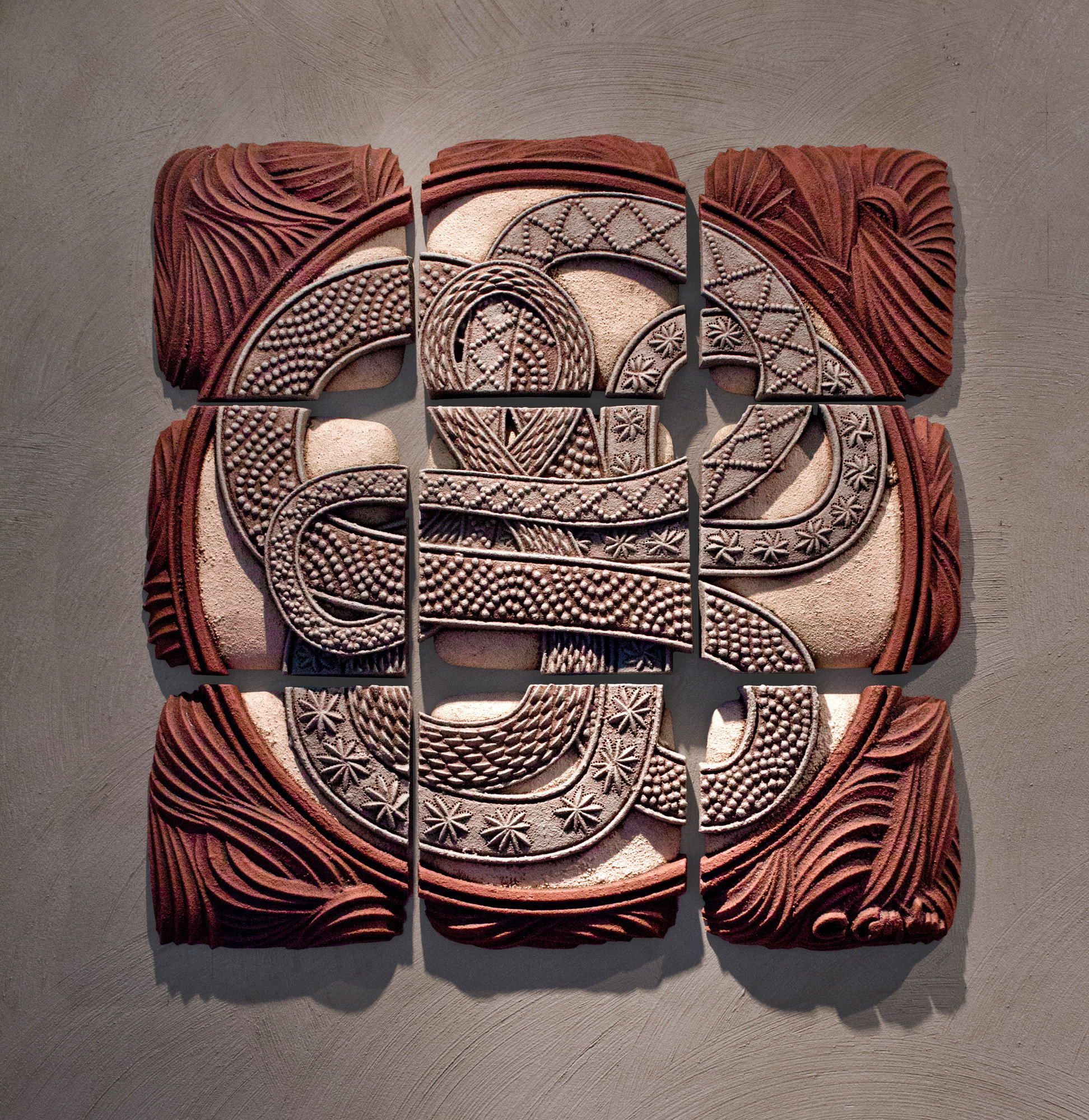 Infinity Squared By Christopher Gryder Ceramic Wall
