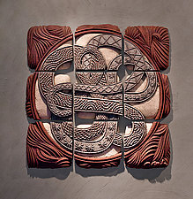 Infinity Squared by Christopher Gryder (Ceramic Wall Sculpture)