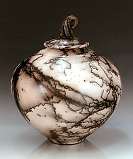 Horsehair 195 by Ron Mello (Ceramic Vessel)