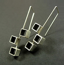 Bauhaus Earrings (ER819) by Hilary Hachey (Silver Earrings)