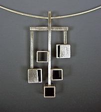 Bauhaus Pendant by Hilary Hachey (Silver Pendant)