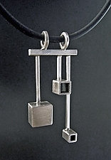Three Box Pendant by Hilary Hachey (Silver Pendant)