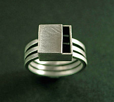 Triple Band Ring by Hilary Hachey (Silver Ring)