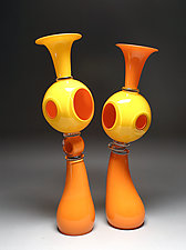 Dwelling Set in Orange and Yellow by Scott Summerfield (Art Glass Sculpture)