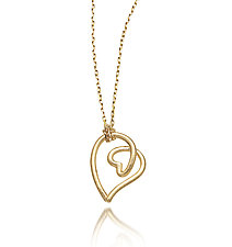 Heart Doodle Pendant by Dana Melnick (Gold Necklace)